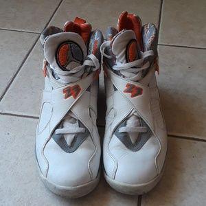 Air Jordan 8 Retro White Orange Blaze Silver Steal